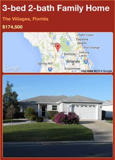 3-bed 2-bath Family Home in The Villages, Florida ►$174,500 #PropertyForSale #RealEstate #Florida http://florida-magic.com/properties/87502-family-home-for-sale-in-the-villages-florida-with-3-bedroom-2-bathroom