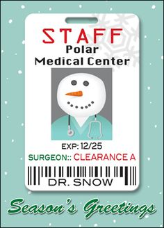 Auto snowflake christmas card glossy white 2603 tyre shop the medical christmas card badge can be completely customized with your logo message and choice of colors and fonts reheart Image collections