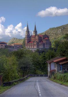 Basílica de Santa María la Real de Covadonga is a Catholic church located in Covadonga, Cangas de Onís, Asturias, Spain