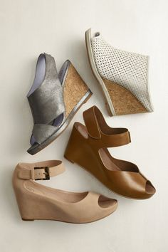 Rise Up: A comfortable way to elevate your look. #wedges