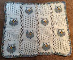 Crocheted Owl Baby Afghan