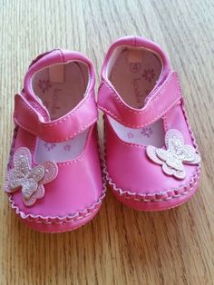 65c02fa2a06 Koala Kids Mary Jane Girls Toddler Shoes size 4 Pink with Butterflies - EUC   fashion