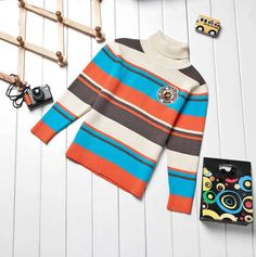 Aliexpress.com : Buy Boys Knitwear Spring/Autumn Striped Sweatshirts Long Sleeve Sweaters Turtleneck, Free Shipping K0288 from Reliable Boys Sweaters suppliers on SICIBAY - Kids' Clothing:Selling for Donating