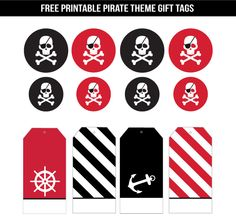 pirate themed printables gift tags