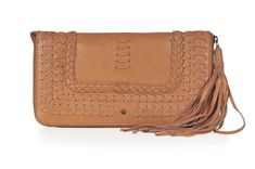 TALISMAN. Tan leather clutch / womens leather wallet / leather