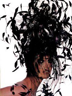 INSPIRATION @MUSEBEAUTY.PRO: MUSE: Linda Evangelista, Photographer: Irving Penn, Hair: Garren, Makeup Artist: Kevyn Aucoin