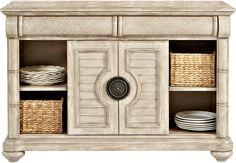 Cindy Crawford Home Key West Sand Server -ServersLight Wood