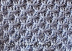 """""""This Diagonal Crossed Stitch #Knitting Pattern looks lovely on both sides! It would be an excellent choice for a warm winter jacket or a beautiful hat and scarf.It's not difficult either. After a 2 row set up, there are only 4 repeating rows."""" #KnittingGuru ** http://www.KnittingGuru.etsy.com"""
