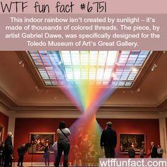 Gabriel Dawe creates rainbows from thread - WTF fun fact