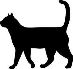 Looking for the ideal Black Cat Silhouette Wall Art to express yourself? Black Cat Silhouette, Animal Silhouette, Free Silhouette, Gato Animal, Cat Template, Cat Clipart, Image Chat, Cat Quilt, Cat Art
