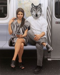 <p>New-York artist Matthew Grabelsky creates surreal, enigmatic urban sceneries artworks that combine everyday situations with the subconscious world of dreams and mythology (with animal heads). You s