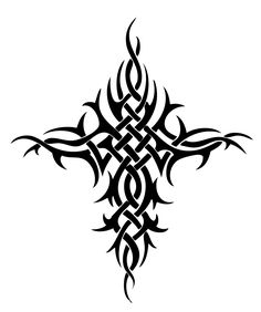 Tattoo Tribal Cross Designs Cross tribal tattoos. designs Tribal Tattoo Designs, Tribal Tattoos, Tattoo Stencils, Cross Designs, Home Decor, Art, Art Background, Decoration Home, Room Decor