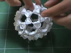 """Origami representation of the arrangement of 60 Carbon atoms known as the """"Buckyball."""""""
