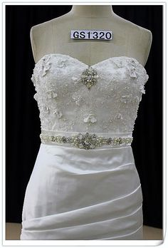 Sweetheart Wedding Dress Fit and Flair with by WeddingDressFantasy, $955.00
