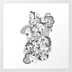 Without Her Art Print by natasouko - $12.48