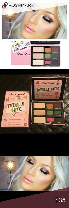 Too Faced Totally Cute Eyeshadow Palette Brand New in Box, 100% Authentic Too Faced Makeup Eyeshadow