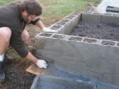 garden care vegetable How to Build a Concrete Raised Bed Garden for the Disabled