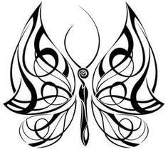 Best Celtic Butterfly Tattoos Sketch Design, Celtic Butterfly Tattoo Meaning Tribal Butterfly Tattoo, Butterfly Tattoo On Shoulder, Butterfly Tattoo Designs, Tribal Tattoo Designs, Tattoo Designs And Meanings, Butterfly Design, Sketch Tattoo Design, Sketch Design, Tattoo Sketches