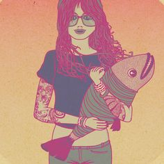 Illustrations - 2011 by andrea moresco, via Behance