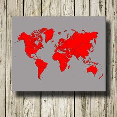 Red & gray world map https://www.etsy.com/listing/204312594/world-map-printable-instant-download