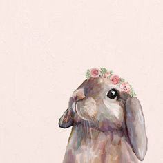 Bunny Painting, Bunny Drawing, Bunny Art, Crown Drawing, Crown Art, Baby Animal Drawings, Cute Drawings, Easter Drawings, Bunny Sketches