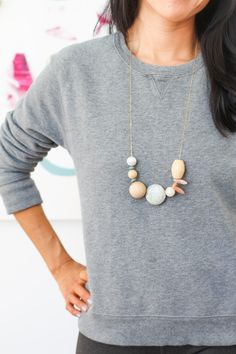 DIY Asymmetrical Necklace