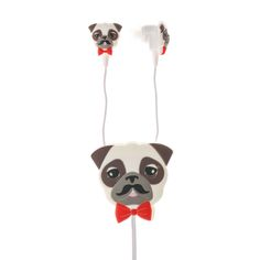 Pug Earbuds with Winder , Headphones, Headphones, all, Phone & Tablet Accessories, Accessories, Tech, Monsters, Your Fave's, Tech Gifts, Gifts, Tech, Room & Gifts Fashion trends, accessories and jewellery for young women