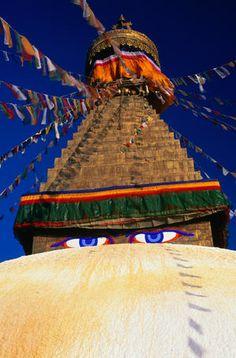 -Buddha Eyes. Nepal..