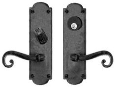 View the Acorn Manufacturing IW3I Iron Art Single Cylinder Mortise Scroll Leverset with Ornate Escutcheon at Handlesets.com.