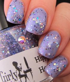 """Girly Bits: Easter mani- Hippity Hop  """"Hippity Hop"""" nail polish by Girly Bits, over Essence Colour and Go- """"A Lovely Secret"""""""