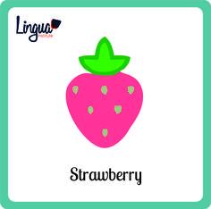 Fresa/ Strawberry  - Frutas en Inglés/ Fruits in English- Lingua Institute