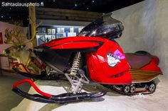 Santa's snowmobile at our Christmas exhibition in Santa Claus Holiday Village in…