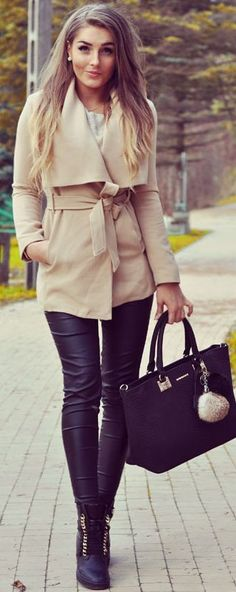 Stytleev Cappucino And Black Fall Street Style Inspo