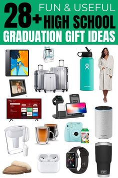 sending to my mom who keeps asking what my son wants for his high school graduation gifts! Such great graduation gifts for high schoolers! High School Graduation Quotes, Outdoor Graduation Parties, Graduation Party Centerpieces, Graduation Party Planning, High School Graduation Gifts, Graduation Party Decor, School Gifts, Graduate School, Grad Parties