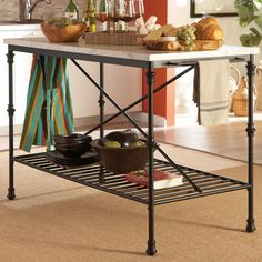 You'll love the Byrnedale Kitchen Island with Stainless Steel Top at Wayfair - Great Deals on all Furniture  products with Free Shipping on most stuff, even the big stuff.
