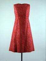 Scarlet, orange and pink dress