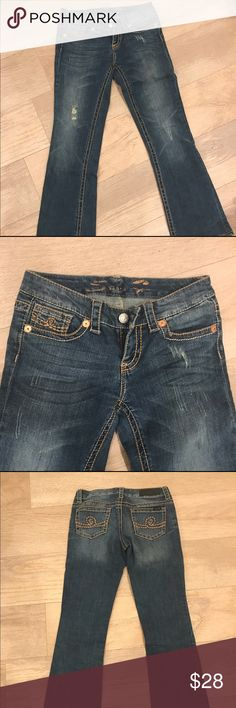 """Seven jeans bootcut Seven jeans, great detailing and """"worn in"""" look. Professionally hemmed to fit 5'6"""" in flats. Great condition. Super comfortable with a bit of stretch. Seven7 Jeans Boot Cut"""