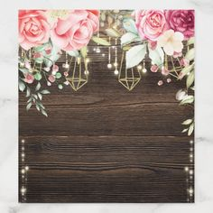 Rustic Wood Floral String lights Wedding with lace Envelope Liner , Floral Wedding, Lace Wedding, Frame Wreath, Invitation Cards, Invite, Envelope Liners, Pretty Wallpapers, String Lights, Custom Stickers