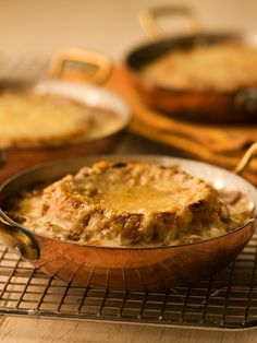 French Onion Soup, from Michael Smith - we use Madeira in this and it is delicious every time - real comfort food!