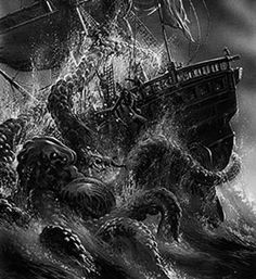 Kraken. Monstruo marino.