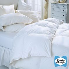@Overstock - Adding warmth and style to your room is easy using this attractive alternative comforter. With a white plain color, you can easily match it with a selection of decors. The use of cotton on its cover enhances its comfort and breathability. http://www.overstock.com/Bedding-Bath/Sealy-Oversize-230-Thread-Count-Down-Alternative-Comforter/5222907/product.html?CID=214117 $89.99