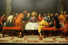 Frans The Younger Pourbus The Last Supper, , Musee du Louvre, Paris. Read more about the symbolism and interpretation of The Last Supper by Frans The Younger Pourbus. Church Songs, Church Music, Jesus Last Supper, Philippe De Champaigne, Nicolas Poussin, Lords Supper, Holy Thursday, The Imitation, Les Religions