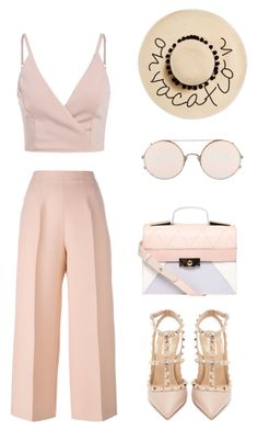 """""""Ann Style"""" by miss-dennitsa ❤ liked on Polyvore featuring Fendi, Valentino, Dorothy Perkins, Sunday Somewhere and August Hat"""