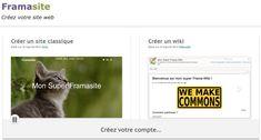 Framasite. Comment créer un wiki, une page ou un site web