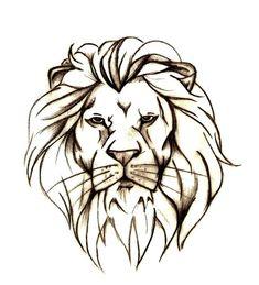 Lion Head Free Tattoo Designs.