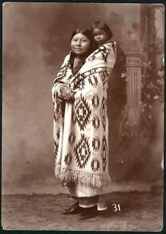 Comanche mother and child - no date