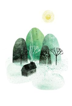 Home by the Mountains by Essi Kimpimaki www.essillustration.com