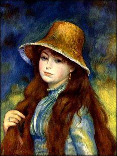Femmes à chapeau (149) Auguste Renoir (1841-1919) Jeune fille au chapeau de paille Le chapeau fleuri Jeune fille à l'éventail