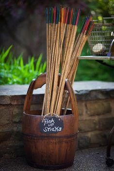 Retro Oversized Pick-Up Sticks Vintage Style Outdoor Wedding Games and Lawn Games -See the rest of our yard game rentals! @DixiDoesVintage Dixie Does Vintage Rentals in Dallas TX