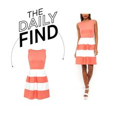 """Daily Find: New Look Skater Dress"" by polyvore-editorial ❤ liked on Polyvore featuring Cameo Rose and DailyFind"